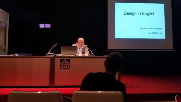 Salvador Ros, Orihuela. Design in English.